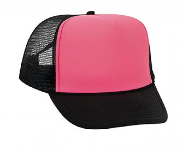 87c1573bafe7 Old School Trucker Cap neon pink black